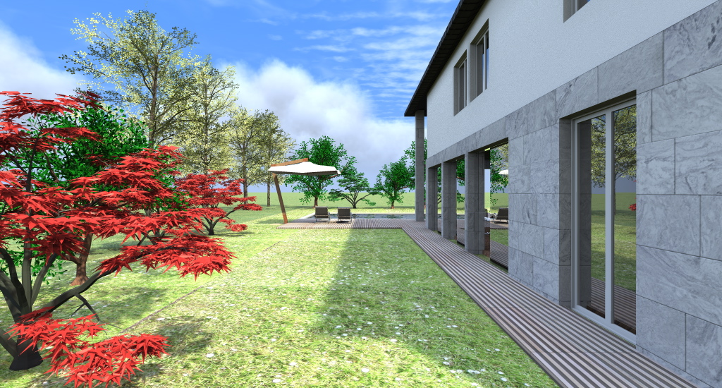 Progetto casa 3d anteprima fotorealistica della tua for Piccoli bungalow piani casa con garage