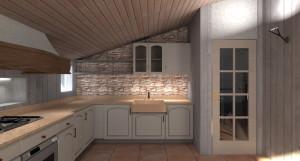 Esempio progetto ristrutturazione mansarda: Cucina in mansarda 1