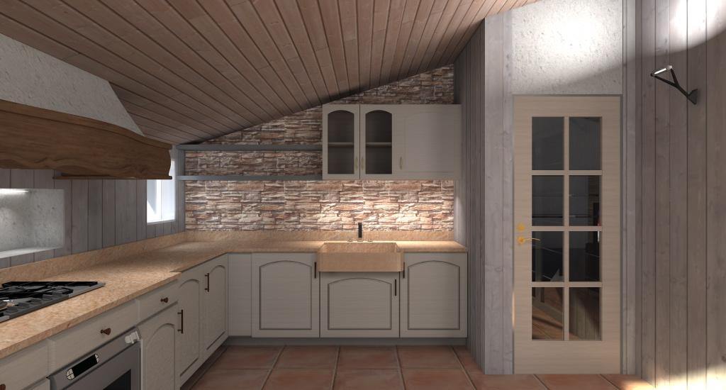 Esempi progetti per costruire ristrutturare e arredare - Cucine in mansarda ...