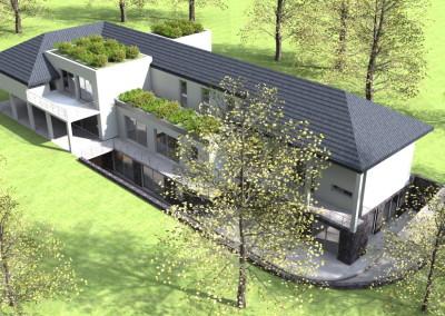 Villa con tetto verde