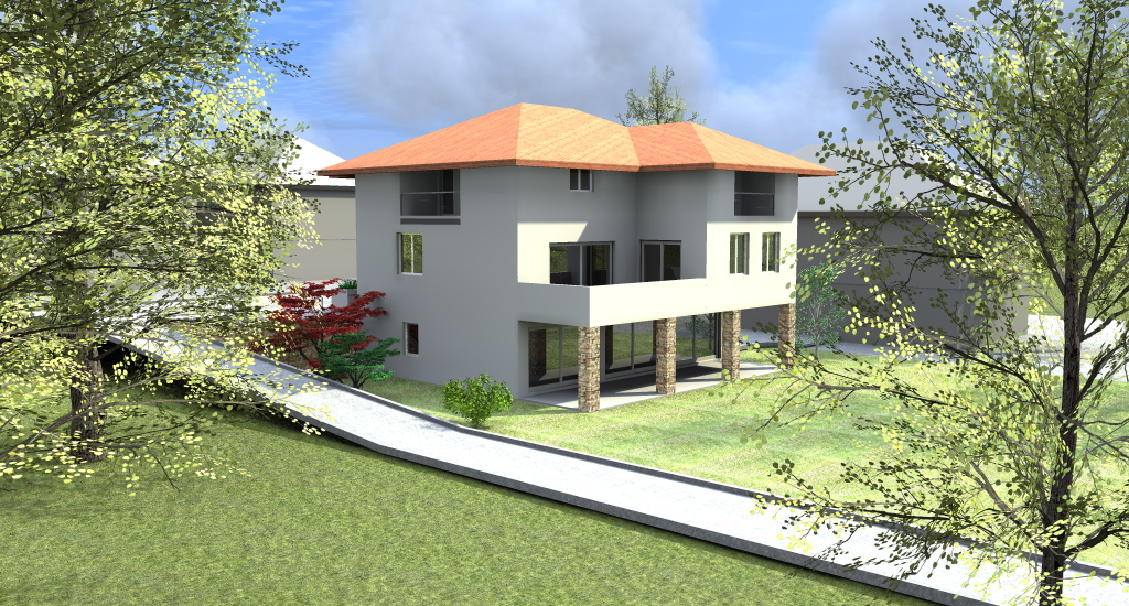 Progetto villa progetto online idea progetto 3d dettagli for Foto di case a tre piani