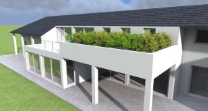 Esempio progetto case a schiera - giardino pensile