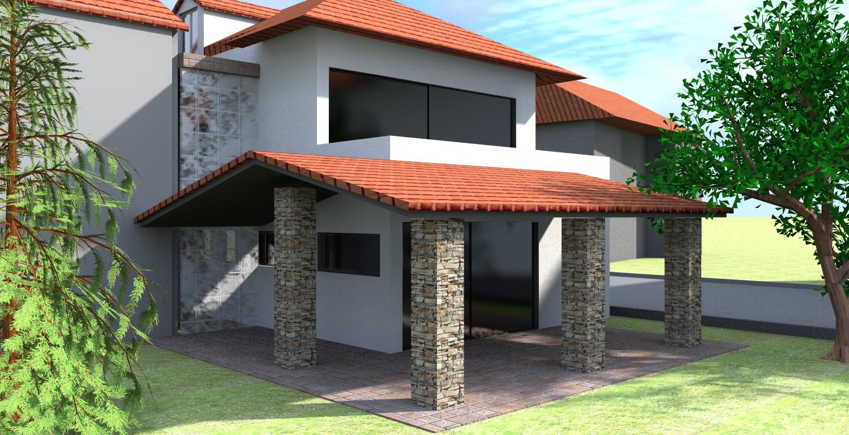 Progetto casa 3d anteprima fotorealistica della tua for Progetti di portico anteriore