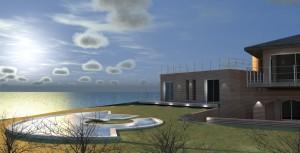 progetto villa sul mare