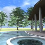 esempio progetto villa con piscina