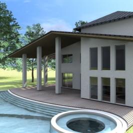 Villa con piscina sull'Adriatico