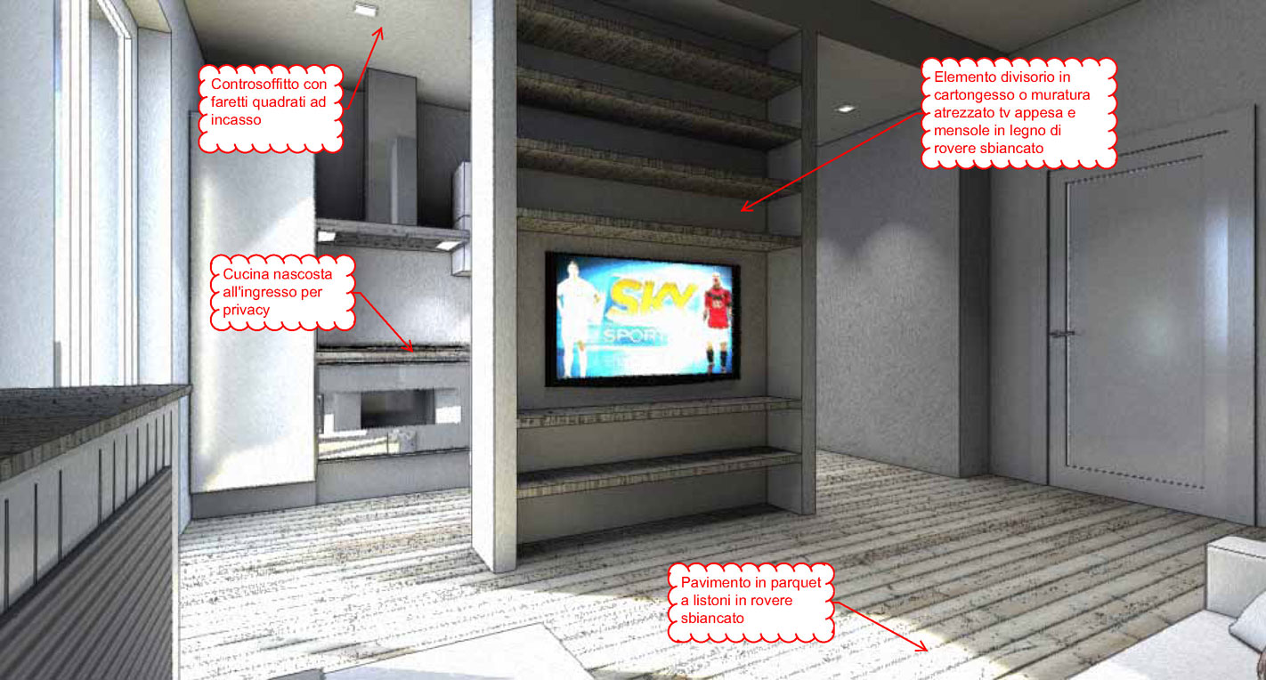 PROGETTO-LIVING- interior Design in 20 mq