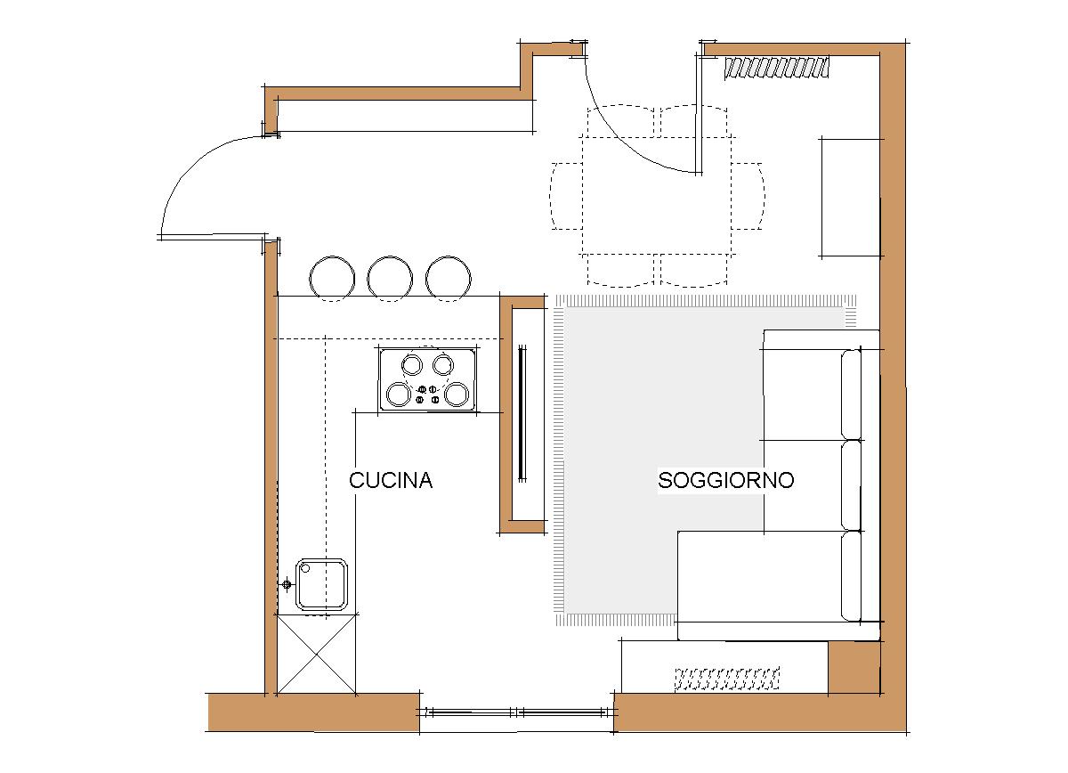 Progetta cucina online fascia di cucina da rivestire with for Progetta la tua planimetria