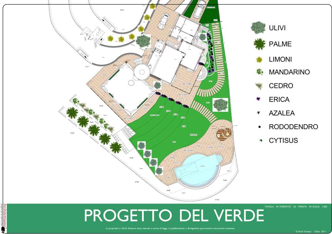 Progettazione giardini e progetto del verde dal progetto al rendering - Disegno progetto casa ...