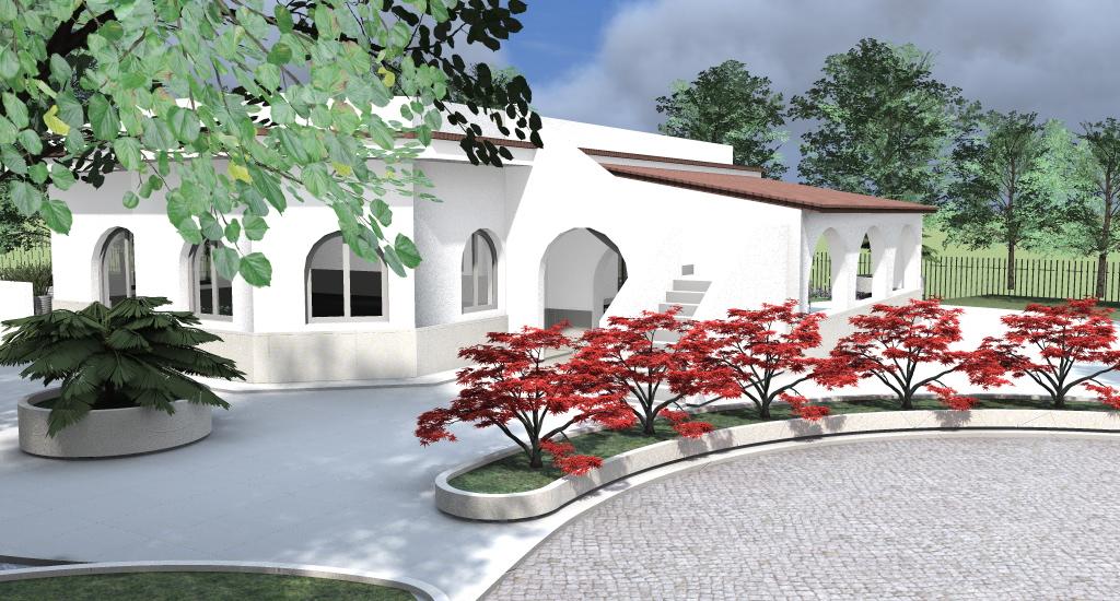 Progetti giardino per villette villa plus con tetto in - Progetti giardino per villette ...