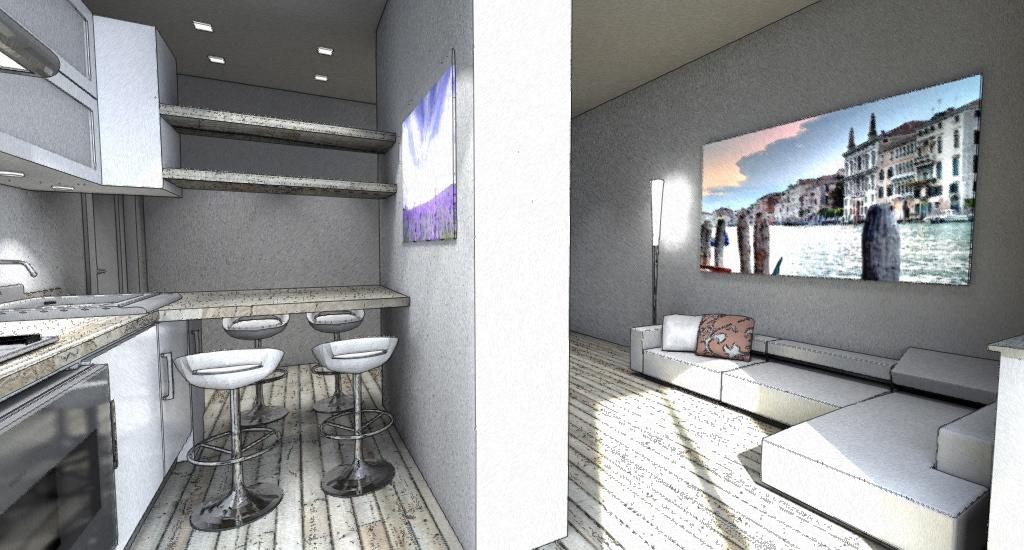 Esempi progetti on line per costruire ristrutturare arredare - Divisorio cucina soggiorno ...