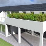 Villa con giardino pensile