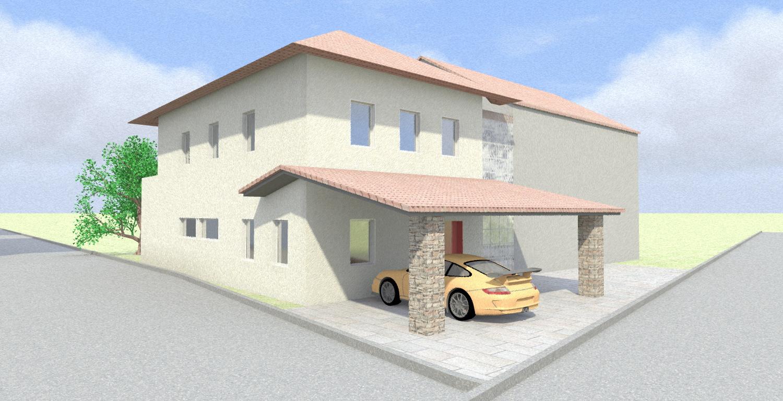 Progetto casa 3d anteprima fotorealistica della tua for Piani di casa con 3 master suite