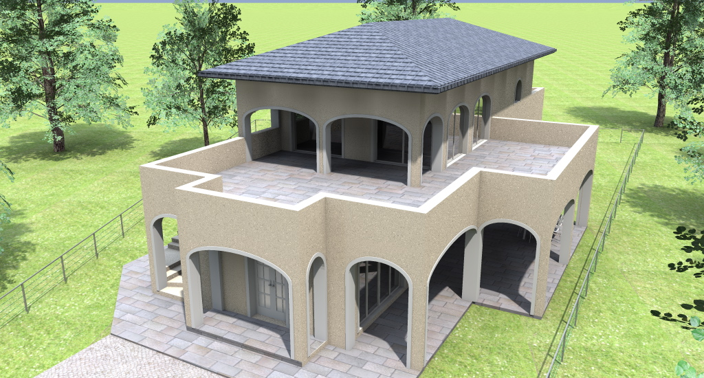 Progetto villa progetto online idea progetto 3d dettagli for Villette moderne progetti