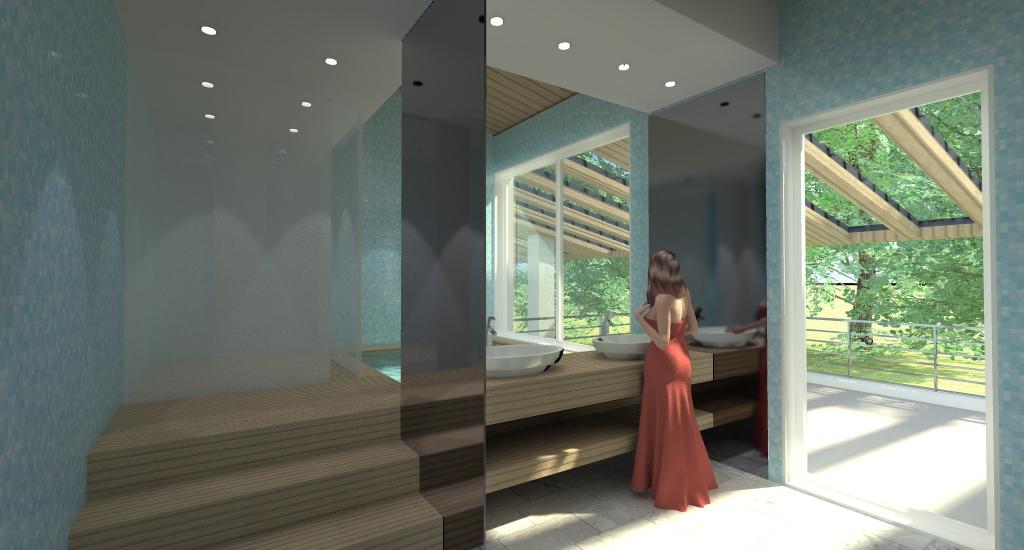 villa con piscina sull 39 adriatico esempio di progetto online ForCamera Matrimoniale E Piani Bagno