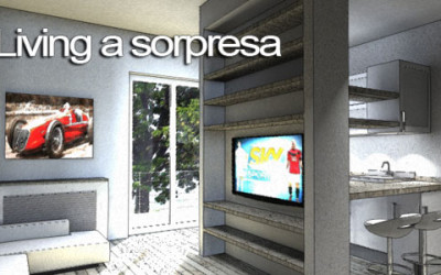 Interior Design piccola Zona Living 20mq