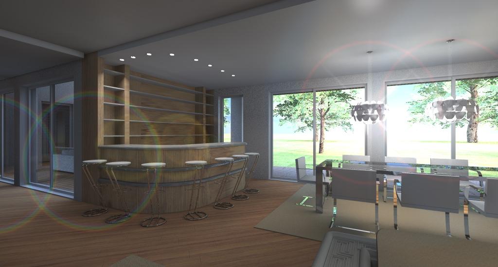 ANGOLO BAR: baco bar per 6 persone in legno di teak con inserti in alluminio, parete atrezzata in teak per bottiglie e bichieri