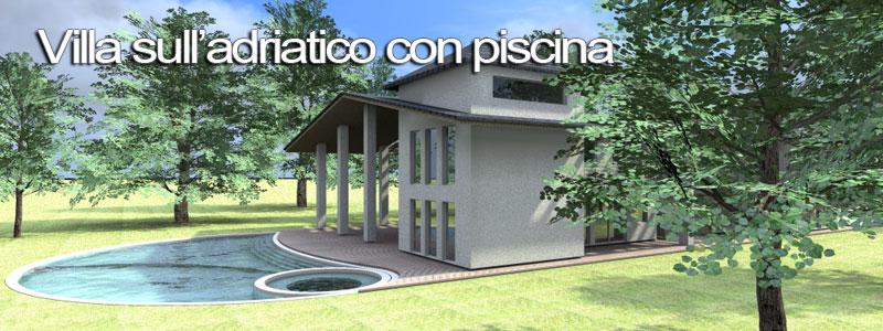 Esempio di progetto di villa con piscina sull 39 adriatico for Giochi di costruzione di case 3d online