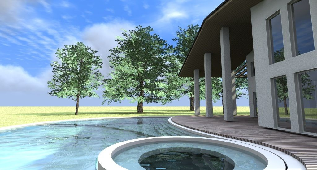 villa con piscina idromassaggio