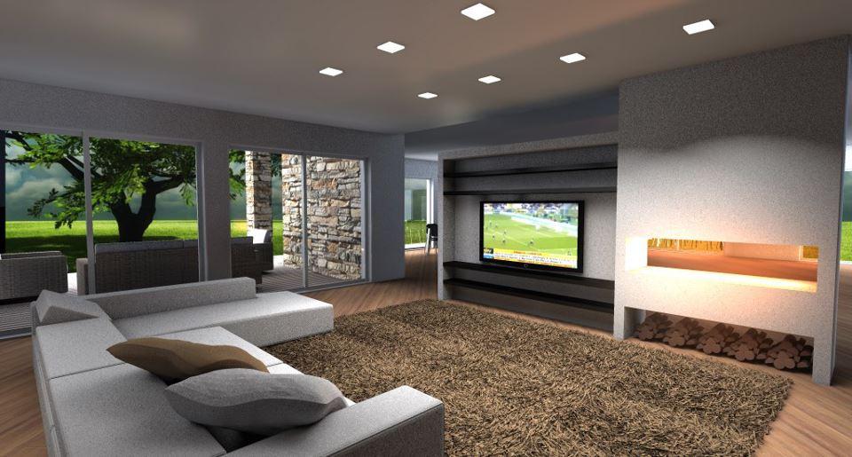 Villa nel verde esempio di progetto online for Progettare un salone