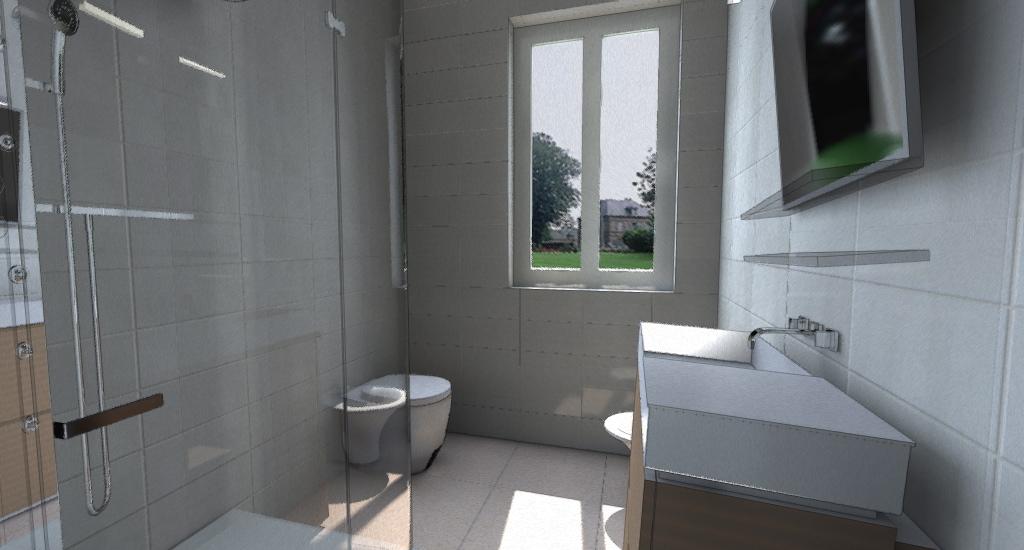 Appartamento moderno e accogliente esempio di progetto - Progetto bagno 3d gratis ...