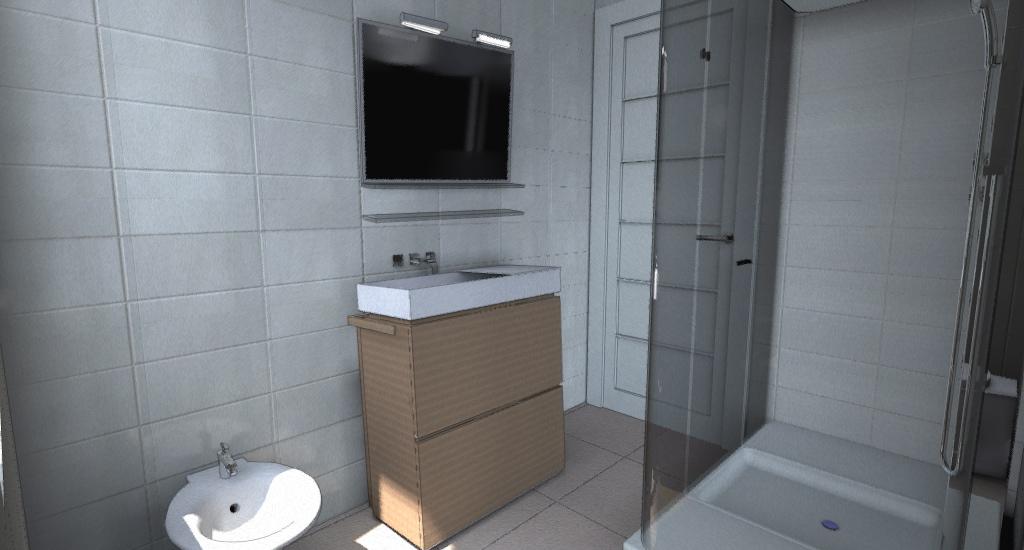 BAGNO: doccia più spaziosa e comodo lavello (Metaphor di Alape)