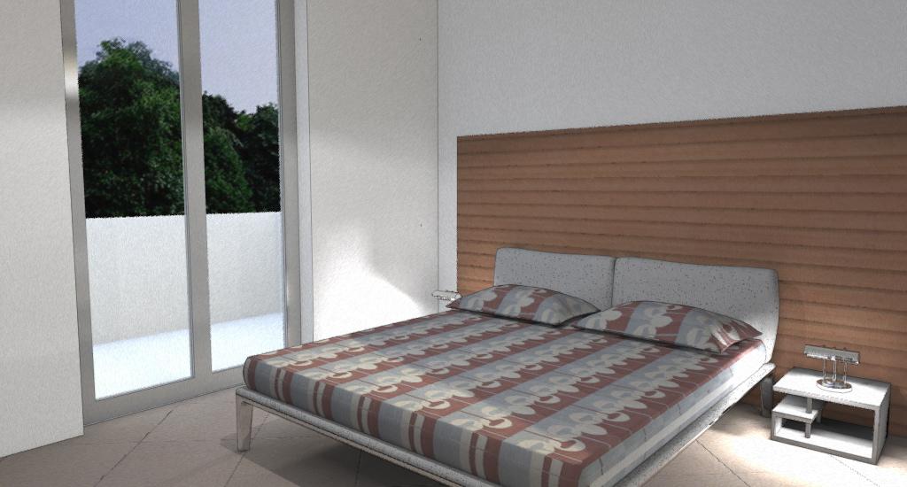 Appartamento moderno e accogliente esempio di progetto - Armadio dietro letto matrimoniale ...