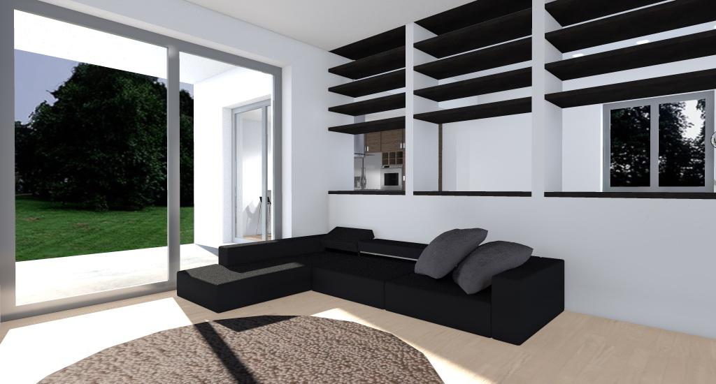 Villa nel verde esempio di progetto online - Divisorio cucina soggiorno ...