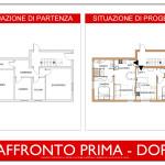 Idea Ristrutturazione - frazionamento appartamento - raffronto prima dopo