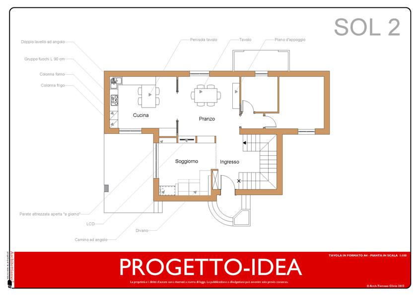 Villa nel verde esempio di progetto online for Progettare stanza 3d