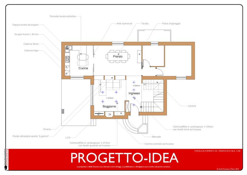 Progetto villa in pianta