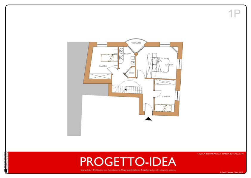 Progetto idea casa un idea di progetto speciale per la for 2 piani di garage per auto con soppalco