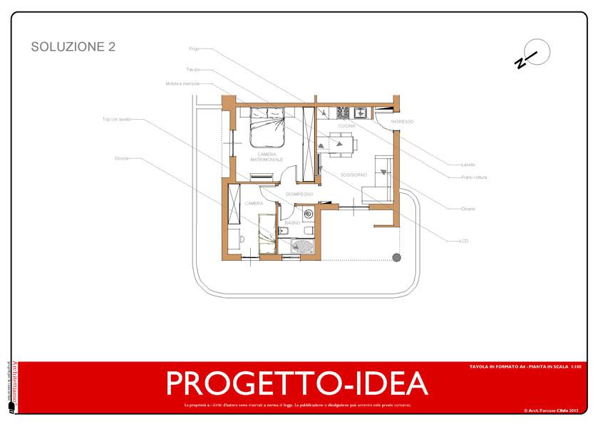 Soluzione-2 appartamento moderno