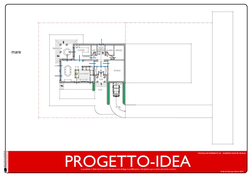 Progetto idea casa un idea di progetto speciale per la for Piani casa bungalow con cantina e garage