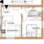 Idea Frazionamento Appartamento in 2 bilocali