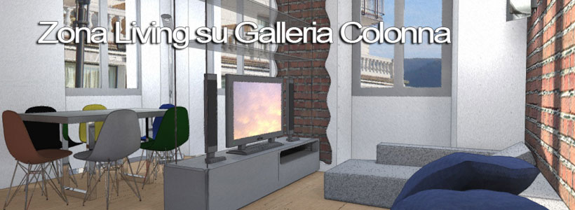 zona living su galleria colonna