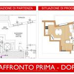 progetto idea arredo - living design - raffronto prima dopo