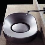progetto idea arredo - particolare lavabo ovale da appoggio su top