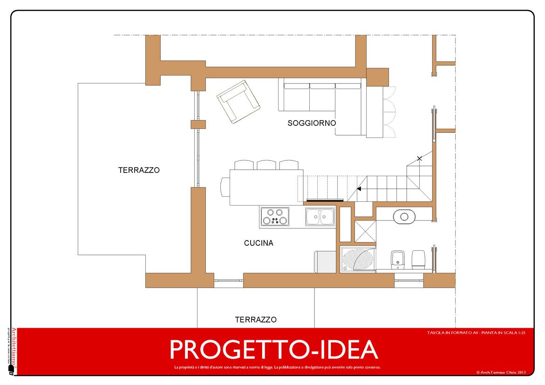 progetto cucina soggiorno cucina soggiorno open space progetto ...