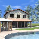 Progetto Casa 3D - 2 - Rustico in Lazio 3