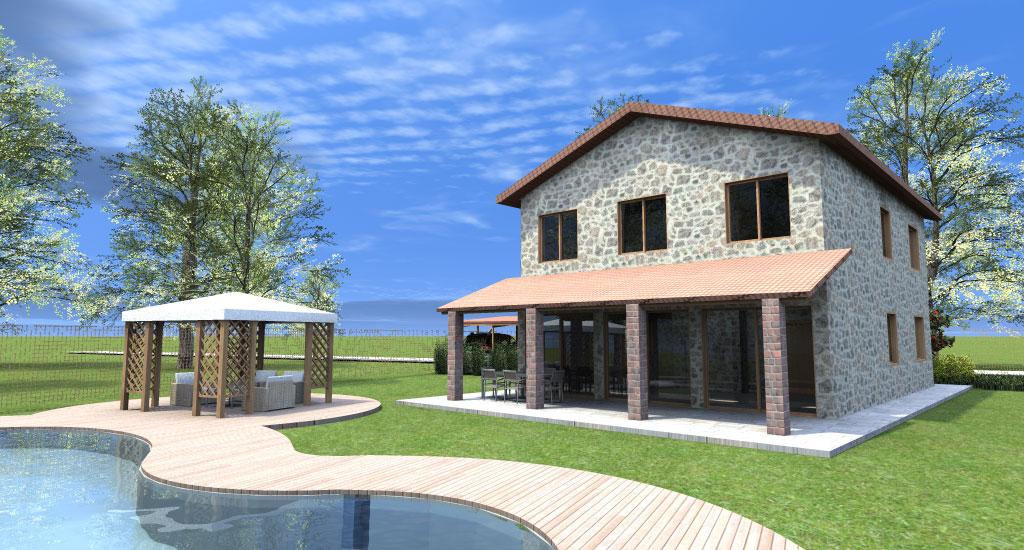 Progetto casa 3d anteprima fotorealistica della tua for Piani di casa artigiano di un livello