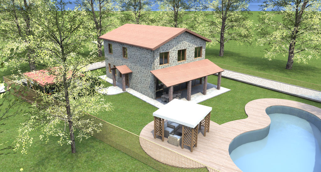 Progetto casa 3d anteprima fotorealistica della tua for Piani e progetti di case contemporanee