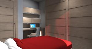 Esempio progetto arredamento interni camera ragazzo angolo scrivania
