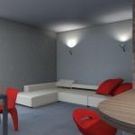 Idea Ristrutturazione 3D - Living piccolo - Rendering soggiorno