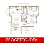 Idea Ristrutturazione 3D - Appartamento grande - progetto idea