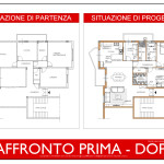 Idea Ristrutturazione 3D - Appartamento grande Raffronto-Prima-Dopo