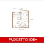 Idea Ristrutturazione 3D - Appartamento 60mq - progetto idea