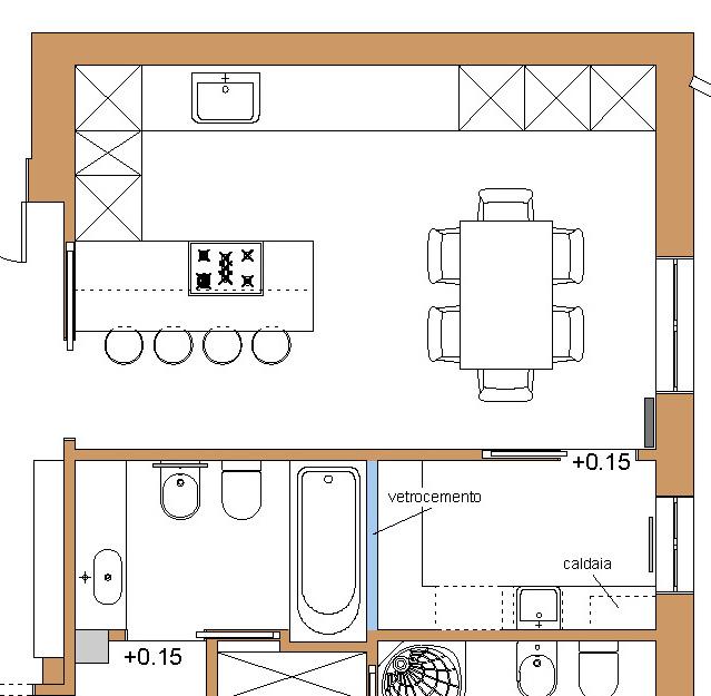 Idea ristrutturazione rapido progetto per ristrutturare casa for Piccole planimetrie della cabina avvolgono il portico