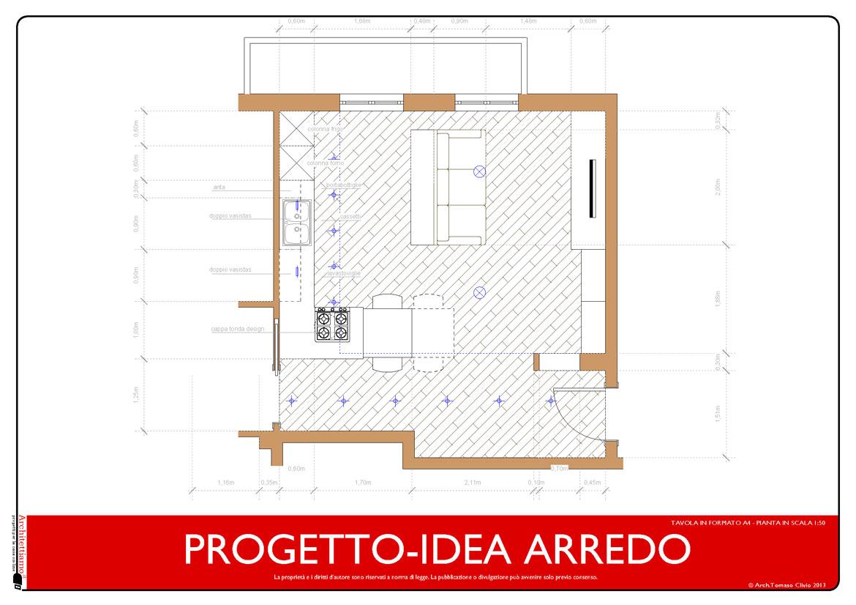 Progetto arredo 3d modellazione 3d e rendering interni for Progetto arredo cucina