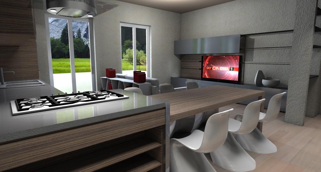 Progetto arredo 3d modellazione 3d e rendering interni - Progetto arredo cucina ...